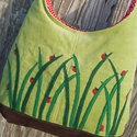 Katicák almazöld színű  kord pakolós táska, Táska, Válltáska, oldaltáska, Szeretem a közepes méretű táskákat, mert korlátoznak, hogy mit is vigyek magammal. De sokan a pakoló..., Meska