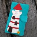 Világító torony türkiz színű kord irattartó és pénztárca , A mai világban rengeteg kártyával, cédulával,...