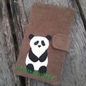 Panda barnás színű kord irattartó és pénztárca , Táska, Pénztárca, tok, tárca, Pénztárca, A mai világban rengeteg kártyával, cédulával, kuponfüzettel és egyebekkel tömnek minket. Hogy legyen..., Meska