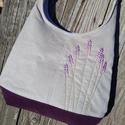 Levendulák galambszürke színű  kord pakolós táska, Szeretem a közepes méretű táskákat, mert korl...