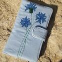 Búzavirág halványkék színű kord irattartó és pénztárca , A mai világban rengeteg kártyával, cédulával,...