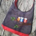 Baglyok szürke színű  kord pakolós táska, Szeretem a közepes méretű táskákat, mert korl...
