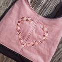 Tavasz fáradt rózsaszín színű  kord pakolós táska, Szeretem a közepes méretű táskákat, mert korl...