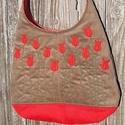 Tüzes tulipánok mogyoró színű  kord pakolós táska, Szeretem a közepes méretű táskákat, mert korl...