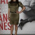 Fekete-arany szegecses csipkeruha, Ruha, divat, cipő, Női ruha, Estélyi ruha, Ruha, Varrás, A 2013 Cannes filmfesztiválra készült egy angol színésznő részére. Egyedi készítésű és csak ez az e..., Meska