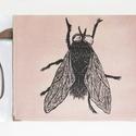 Rosé Légy mintás clutch női táska, Táska, Ruha, divat, cipő, Válltáska, oldaltáska, Fotó, grafika, rajz, illusztráció, Varrás, Rosé velúrból készült Légy mintás clutch női táska (borítéktáska). A minta kézi rajzzal készült! Eg..., Meska
