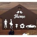 Családi kulcstartó, A család minden tagja megtalálja a saját akaszt...