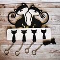 Cicás fali kulcstartó 5 db kis cicás kulcstartóval :), Továbbfejlesztettük az egyik legsikeresebb kulcs...