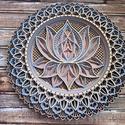 Mandala lótusz virág #2, Gyönyörű, egyedileg készített lótusz virágo...