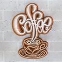 Kávés mandala kép, Kávé függők figyelem! Ez a csodaszép 7 réteg...