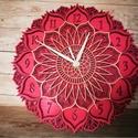 Mandala óra, Csodás mandala stílusú óra, 5 rétegű fa leme...