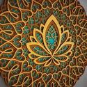 Lótuszvirág mandala, Csodaszép, 5 rétegű lótuszvirágot ábrázoló...