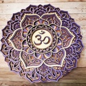 Mandala csakra - Koronacsakra, Sahasrara, Egyedi, gyönyörű mandalás mintájú Koronacsak...