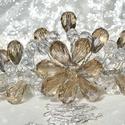 Kristály Tiara , Ékszer, óra, Esküvő, Hajdísz, ruhadísz, Ékszerkészítés, Gyöngyfűzés, Ez a Tiara Cristal és Silk színű kristályokból készült. Az alapanyagához ezüst színű rozsdamentes d..., Meska
