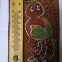 Szobahőmérő, Dekoráció, Képzőművészet, Mérete: 23 cm magas, 16 cm széles Anyaga: Kishajmási agyag, Kolibri ecsetelős máz. Díszítése..., Meska