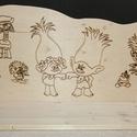 GYermek Fali polc fából egyedi, Otthon & Lakás, Bútor, Polc, Famegmunkálás, Egyedi, fából készült gyerek könyvespolc, falra szerelhető.  Mérete: Mintás felület: 75cm hosszú, 7..., Meska
