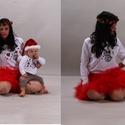 Hóember páros kicsinek és nagynak, Baba-mama-gyerek, Ruha, divat, cipő, Gyerekruha, Gyerek (4-10 év), Varrás,  Nemsokára itt a Karácsony....kitűnő ajándék az egész családnak ez a nem mindennapi baba- anya- gye..., Meska