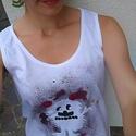 Szörnyecske, Ruha, divat, cipő, Női ruha, Blúz, Kiváló nyári öltözködés ez a kedves szörnyecske.  A trikó a most újból felfedezett hagyományos stílu..., Meska