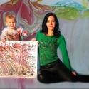 Action painting, Baba-mama-gyerek, Ruha, divat, cipő, Gyerekruha, Baba (0-1év), Különleges és egyedi öltözködése lehet ez a különleges action painting pólópáros anyának és gyerekne..., Meska
