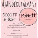 Ajándékutalvány (3000 FT), Penett Műhely saját ajándékutalványa. 2020.12...