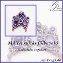 Maya sujtás fülbevaló elkészítési segédlet, Mindenmás, Csináld magad leírások, Maya sujtás fülbevaló  A minta tartalma Részletes lépésről-lépésre szöveges magyarázatot és több min..., Meska