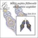 Mika sujtás fülbevaló elkészítési segédlet - haladóknak, A minta tartalma Részletes lépésről-lépésre ...