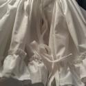 Néptáncos alsószoknya fehér vászonból , Alsószoknya fehér vászonból két fodorral az a...