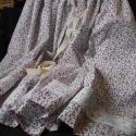 Néptáncos szoknya, Virágmintás pamutvászonból készült néptánc...