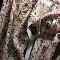 Felnőtt néptáncos szoknya, Felnőtt néptáncos szoknya rózsaszín virágmin...