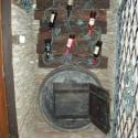 Különleges borok tárolója, hordóból kialakított pohártartóval, Férfiaknak, Otthon, lakberendezés, Tárolóeszköz, Famegmunkálás, Kovácsoltvas, Újrahasznosított fából, használt hordóból kovácsoltvassal kombinált  különleges bortartó Boros pinc..., Meska