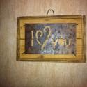 Falikép, Otthon, lakberendezés, Dekoráció, Kép, Dísz, Fával kombinált fém lap. 25x25 cm, Meska