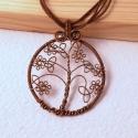 Vörösréz apró virágos kelta életfa, Különleges kelta életfa, melyet kelta motívumo...