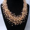 Légies aranyló nyaklánc, Aranysárga cseh kásagyöngyökből készítettem...
