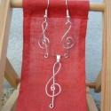 Violinkulcs garnitúra, Ezüstözött rézdrótból tekertem ezt a fülit ...