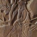 Lovas vezér , Dekoráció, Dísz, Kép, Famegmunkálás, Faragott kép ,natur szinnel diófábol készült .A hét vezér egyike láthato .Méretei:41/29, Meska