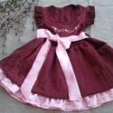 Alkalmi selyem lányka ruha., Baba-mama-gyerek, Ruha, divat, cipő, Gyerekruha, Hímzés, Varrás, Alkalmi,  selyem lányka ruha.  80-146-os méretig készítem., Meska