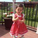 """""""Katica"""" lányka ruha, Baba-mama-gyerek, Ruha, divat, cipő, Gyerekruha, Piros pöttyös lányka ruha, kétoldalt fűzővel szabályozható a bősége. 74-140 méretig kész..., Meska"""