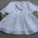 Kézzel hímzett lányka ruha boleróval, Baba-mama-gyerek, Ruha, divat, cipő, Magyar motívumokkal, Gyerekruha, Hímzett lányka ruha, kétoldalt fűzővel szabályozható a bősége.74-128 méretig készítem. , Meska