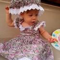 Rózsás lányka ruha , Ruha, divat, cipő, Gyerekruha, Gyerek (4-10 év), Kisgyerek (1-4 év), Varrás, Rózsás, madeirás lányka ruha, kétoldalt fűzővel szabályozható a bősége. Gumis, madeirás, fodros kis..., Meska