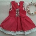 Kordbársony lányka ruha , Ruha, divat, cipő, Gyerekruha, Gyerek (4-10 év), Kisgyerek (1-4 év), Varrás, Kordbársony lányka ruha...74-128-as  méretig készítem....elől fűzővel szabályozható a bősége., Meska