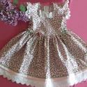 Lányka ruha , Ruha, divat, cipő, Gyerekruha, Gyerek (4-10 év), Kisgyerek (1-4 év), Virágos lányka ruha 74-128 as méretig, kétoldalt fűzővel szabályozható a bősége., Meska