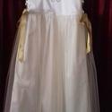 Koszorúslány ruha, Ruha, divat, cipő, Magyar motívumokkal, Esküvő, Esküvői ruha, Koszorúslány ruha kétoldalt fűzővel szabályozható a bősége, 80-146-os méretig készítem. Bármilyen sz..., Meska