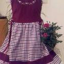 Kordbársony lányka ruha, Ruha, divat, cipő, Gyerekruha, Gyerek (4-10 év), Kisgyerek (1-4 év), Kordbársony kétoldalt fűzős lányka ruha.  Kord, hímzett felső résszel, és flanel szoknyarésszel, mad..., Meska