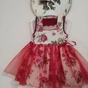 Rózsás álom, Ruha, divat, cipő, Gyerekruha, Kisgyerek (1-4 év), Gyerek (4-10 év), Romantikus rózsás lányka ruha a szoknya része két rétegű, plussz tüll szoknyával, és pamut csipkével..., Meska