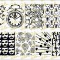 Pet'la Plate körömnyomdalemez - Dandelion II., 6*12 centiméteres szálcsiszolt réz körömnyomd...