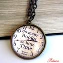 Könyv Könyvmoly Nyaklánc Könyves, Ékszer, Nyaklánc, A könyvek illata ihlette ezt a nyakláncot... Az olvasás és a könyvek szerelmeseinek ajánlom ezt az e..., Meska