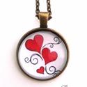 Love Szív Indás nyaklánc Szerelem, Ékszer, Nyaklánc, Ékszerkészítés, Szívek és tekergőző indák mindenhol :) Ajándékba, annak akit szeretsz ötletes és sokatmondó ajándék..., Meska