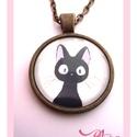Macska Cica nyaklánc Macskás Cicás Fekete , Ékszer, óra, Nyaklánc, Ékszerkészítés, A  macskák nagy kedvenceim, sok szeretetet adnak, ha szeretetet kapnak...Egyetértek Leonardo da Vin..., Meska