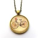 Biciklis Bringás Nyaklánc vintage retro kerékpár, Ékszer, Férfiaknak, Nyaklánc, Bringás kiegészítők, Ékszerkészítés, Biciklis nyakláncot készítettem, a napsütés sugallatára. Vintage retro hangulatú. Ajánlom a bicikli..., Meska