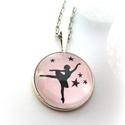 Rózsaszín Balerina nyaklánc táncos balett tánc balerinás fekete rózsaszín kislány téli mese, Ékszer, Baba-mama-gyerek, Nyaklánc, Ékszerkészítés, Balerina nyaklánc  Romantikus, bájos táncoló balerinás nyakláncot készítettem. Halvány rózsaszín al..., Meska